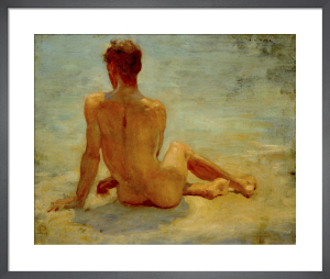 A Sunbather by Henry Scott Tuke