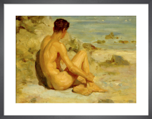 Nude on the Beach by Henry Scott Tuke