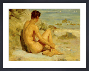 Nude on the Beach by Henry Scott Tuke