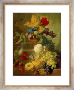 Still Life of Fruit and Flowers by Jan Van Os