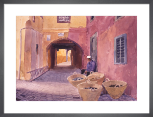 The Olive Seller, Morocco by Lucy Willis