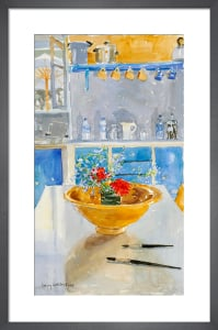 Yellow Bowl with Geraniums by Lucy Willis