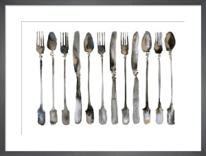 Row of Cutlery by Bridget Davies