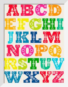Folk Alphabet by Marie Perkins