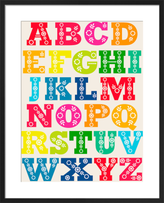 Folk Alphabet by Marie Perkins