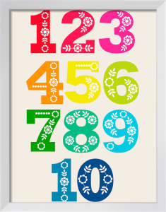 Folk Numbers by Marie Perkins