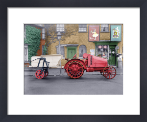 Vintage tractor by Anonymous