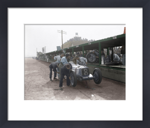 Racing Riley at Brooklands by Anonymous