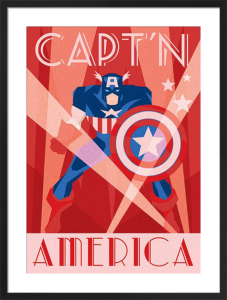 Marvel Deco - Captain America by Marvel Comics