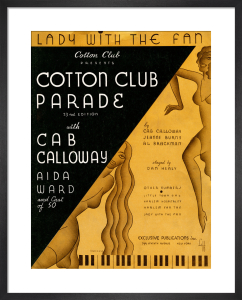 Lady with the Fan (Cotton Club Parade) by Anonymous