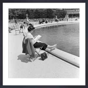 Beside a pond in Paris by Mirrorpix