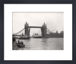 Tower Bridge opens by Anonymous