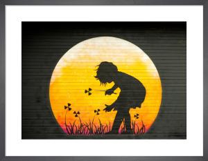 Girl Moon Graffiti by Keri Bevan