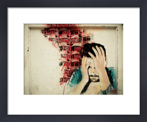 Man Head in Hands Graffiti by Keri Bevan