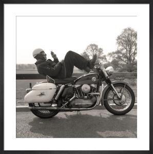 Harley-Davidson Smoke Break by Anonymous