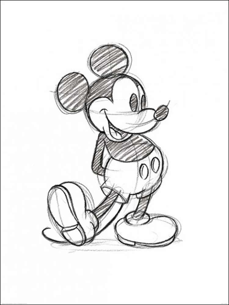 99 Mickey Mouse Drawing By Bluepencils On Deviantart Mickey Mickey
