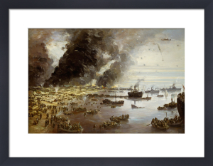 The Withdrawal from Dunkirk, June 1940 by Charles Ernest Cundall