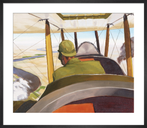 A British Pilot in a BE2c, 1919 by Sydney W Carline