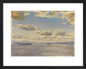 Home Fleet Cruisers in the Firth of Forth by Stephen Bone