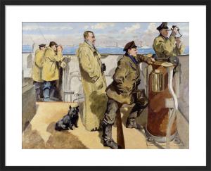 St George's Day 1918 - Bridge of HMS Canterbury by Philip Connard