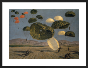 Parachute Drop 1943 by Henry Carr