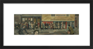 The Queue at the Fish-shop by Evelyn Dunbar