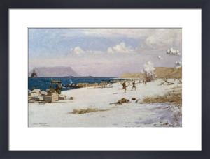 Troops Landing on C Beach, Suvla Bay by Norman Wilkinson