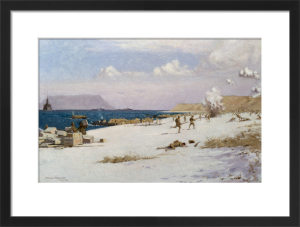 Troops Landing on C Beach, Suvla Bay by Norman Wilkinson