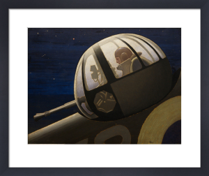 An Air Gunner in Action Turret - Night by Keith Henderson