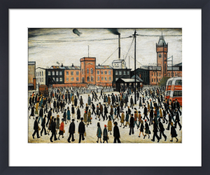 Going to Work by L S Lowry