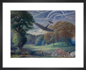 Spitfires Attacking Flying-Bombs, 1944 by Sir Walter Thomas Monnington