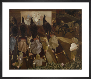 Travoys arriving with Wounded, 1916 by Sir Stanley Spencer