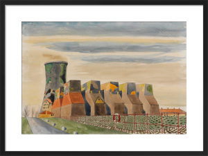 Camouflaged Cooling-towers by Colin William Moss