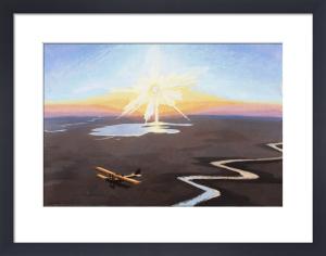 Flying over the Desert, 1919 by Sydney W Carline