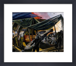 A Howitzer Firing by Paul Nash