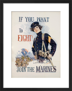 If You Want to Fight - Join the Marines by Howard Chandler Christy