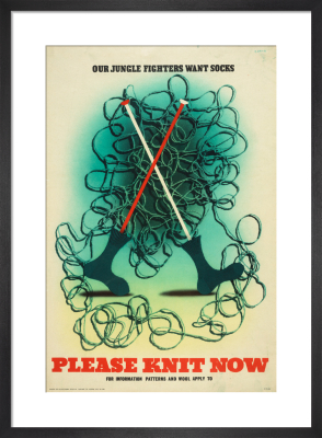 Our Jungle Fighters Want Socks - Please Knit Now by Abram Games
