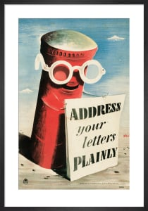 Address your Letters Plainly by Hans Schleger