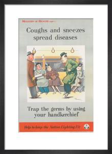 Coughs and Sneezes Spread Diseases by Henry Mayo Bateman