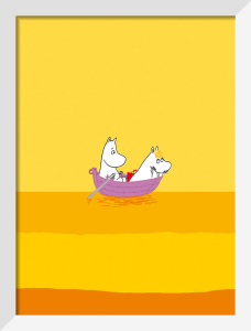 Moomins in a Boat by Tove Jansson