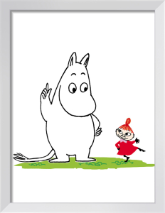 Moomin and Little My by Tove Jansson