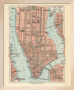 Vintage New York Map by The Vintage Collection