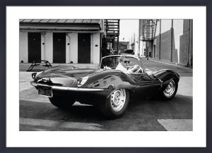Steve McQueen - Jaguar by John Dominis