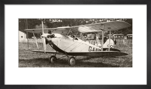 Unidentified biplane c1930 by Anonymous