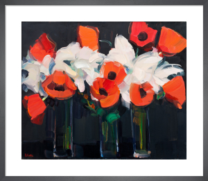 Lilies and Poppies by James Fullarton