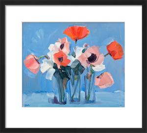 Pink Poppies Still Life by James Fullarton
