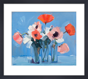 Pink Poppies Still Life by James Fullarton