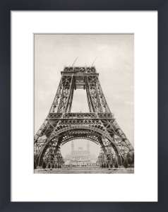 The Eiffel Tower under construction by Anonymous