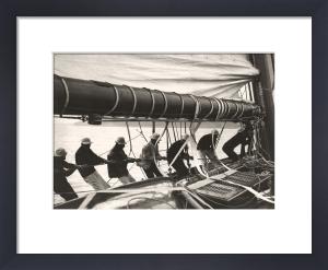 Sailing Teamwork - Hoisting Sail by Anonymous