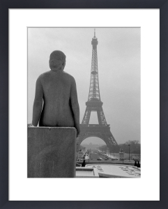 Female Nude Statue with Eiffel Tower, 1963 by Alan Scales